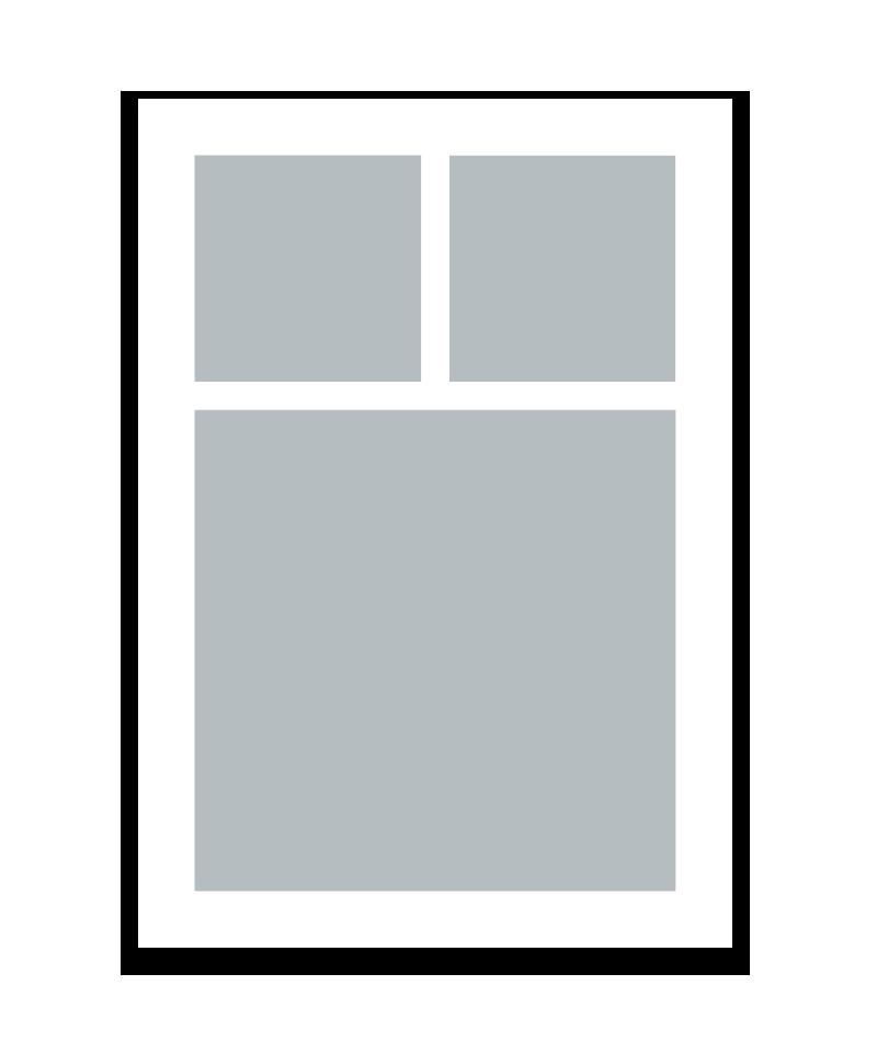 Personlig print med 3 billeder. A5. Papir: 250g.