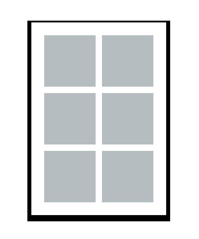 Personlig print med 6 billeder. A5. Papir: 250g.