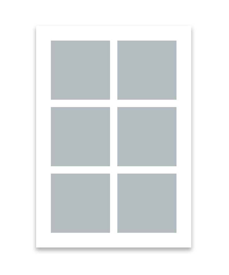Personlig print med 6 billeder. A4. Papir: 250g.