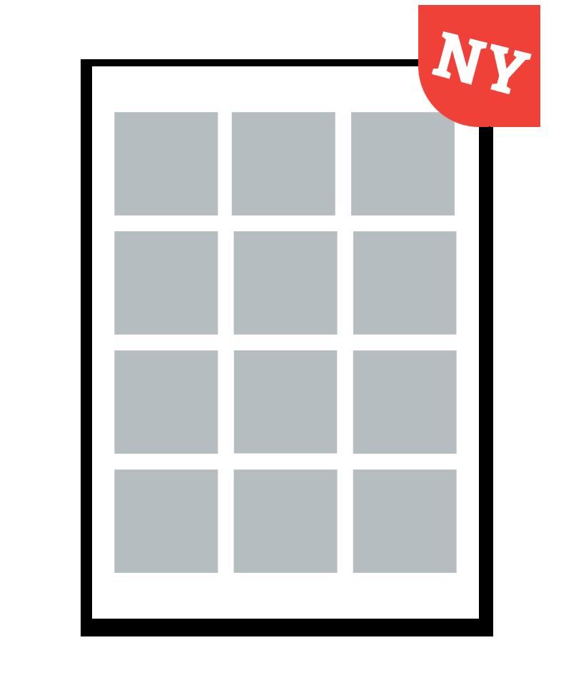 Personlig print med 12 billeder. A4. Papir: 250g.